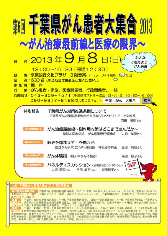第6回 千葉県がん患者大集合2013